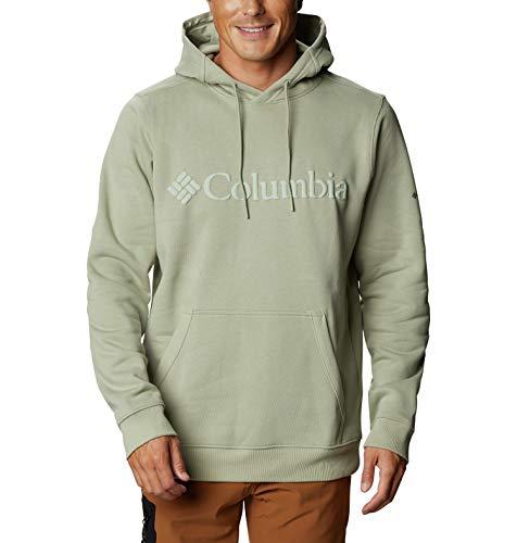 Columbia Moletom masculino com capuz clássico logotipo básico do CSC II, mistura de algodão, logotipo safari, pequeno