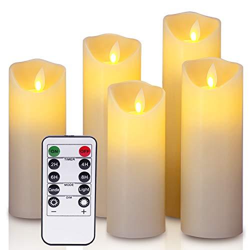 YIWER Kerzen,Flammenlose Bild