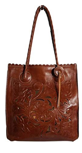 Patricia Nash Cavo Tooled Leather Cutout Tote - Florence