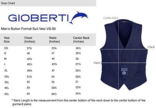 Gioberti Mens Formal Suit Vest 5