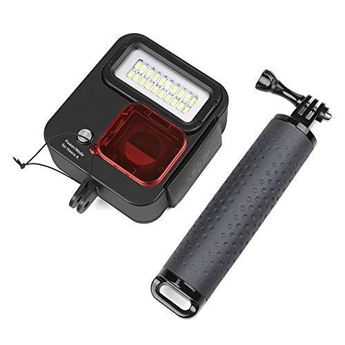 1000LM Waterdichte Duiklamp 30M Onderwater Nacht Vul Licht Met Rood Filter En Drijvende Grip Voor Gopro Hero 7 Zwart/(2018)/Hero 6/Hero 5/Hero 4 Actie Camera