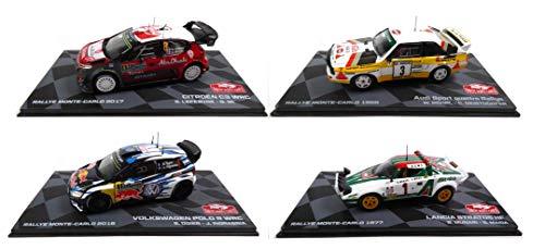 OPO 10 - Lote de 4 Coches de Rally 1/43 Ixo Polo Stratos Quattro C3 (BR1 + BR3 + BR5 + BR8)