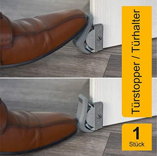 Clipflix Türstopper nachrüstbar ohne Schrauben, Bohren und Kleben - Zugluftstopper ideal für Türen - Tür Stopper als innovativer Ersatz für Türkeil, Türpuffer & Windstopper