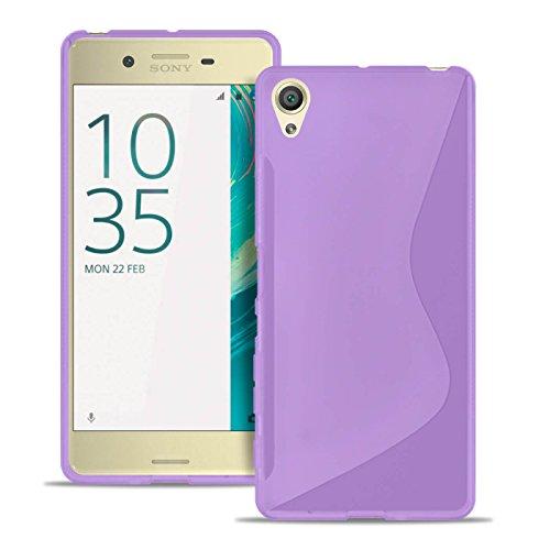 United Case Custodia Protettiva per Cellulare S-Line per Sony Xperia X | Porpora | Copertura