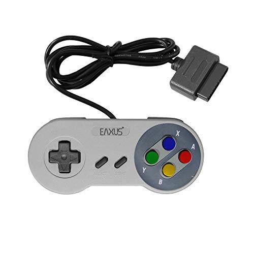 SNES Super Nintendo Controller Gamepad mit farbigen Tasten Premium Qualität Top Ersatz Gamepad für Super Nintendo Entertainment System SNES im original Look
