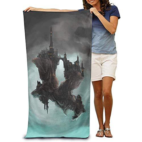 utong 100% Baumwolle Strandtücher 80x130cm Quick Dry Handtuch für Schwimmer Schwimmende Insel Stranddecke