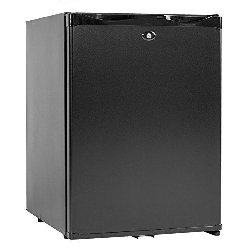 dorm refrigerator with locks Smad Mini Fridge with Lock Compact Refrigerator for Dorm Office Bedroom No Noise,12V/110V,1.0 Cubic Feet, Black