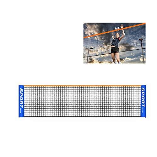 likeitwell Tragbares Badminton-Netz-Set - Netz Für Tennis, Fußballtennis, Kinder-Volleyball - Einfache Einrichtung Nylon-Sportnetz Mit Stangen - Für Innen- Oder Außenplätze, Strand, Auffahrt