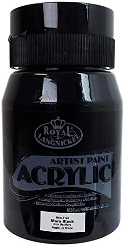 Royal & Langnickel RAA-5120 Essentials - Pittura acrilica, 500 ml, colore nero