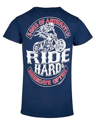 Ride Hard & Medicate Often (3X-Large) Navy