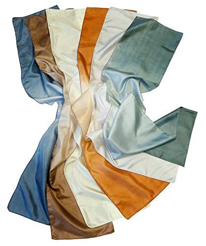Kakadu Traders Australia Damen Schal Halstuch im Seidenlook verschiedene Farben