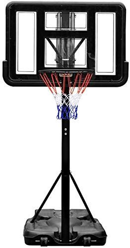 Tragbare Kinder Sport-Basketball-Zielbrett Rückenbrett Zielbügelsystem für den häuslichen Gebrauch mobiler Außenaufnahmen Bügel höhenverstellbar 59-83in,as shown