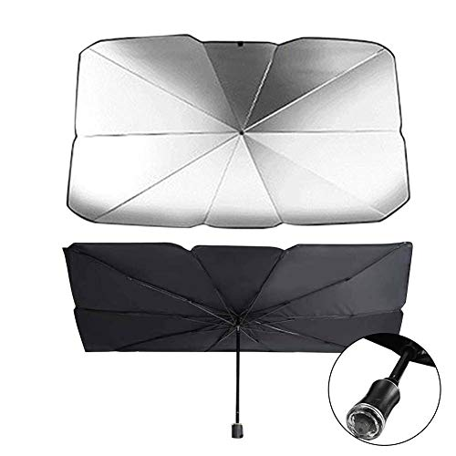 briskay Car Sun Shade Umbrella Plegable Conveniente Auto Parabrisas UV Block Sun Visor Cover