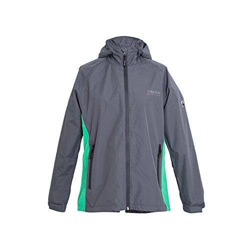 DEPROC-Active Damen Regenjacke und Outdoorjacke DEPROC New Cayley Ladies Jacke, Anthra mintgreen, 38
