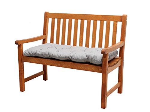 Ambientehome 90430 massief houten bank tuinbank Finland houten bank zitbank 1,08 meter bruin incl. zitkussen