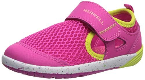 Merrell Kids' Unisex M-Bare Steps H20 Water Shoe, Pink, 4.5 Medium US Toddler