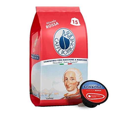 Caffè Borbone Miscela Rossa - 90 capsule (6 confezioni da 15 capsule) - Compatibili Nescafè* Dolce Gusto*