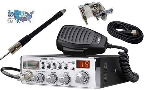 Uniden PC68LTX Radio and Accessory Bundle - 5 Items - Includes Uniden PC68LTX CB Radio with Shark Antennas 36