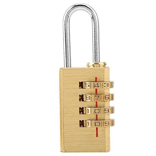YIFengFurun Candado de combinación, cerradura de cobre digital reajustable mini 4 dígitos número contraseña para maletas y mochilas