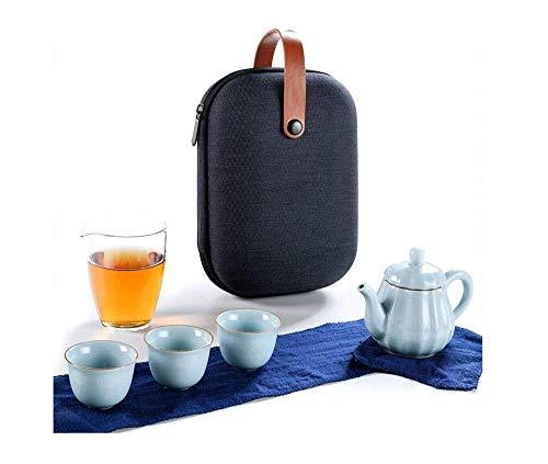 Brightz Tetera, Juego de té portátil Simple nórdica del Ministerio del Interior al Aire Libre té Coche Marca rápida Taza de la Bebida un crisol de Tres Copa Tetera Tazas de té,