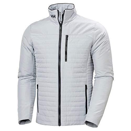 Helly Hansen Crew Insulator Jacket, Giacca Sportiva Uomo, L, Grigio (Grey Fog)