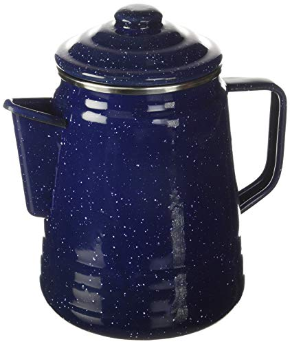 Coleman 9 Cup Blue Double-Coated Enamel Percolator