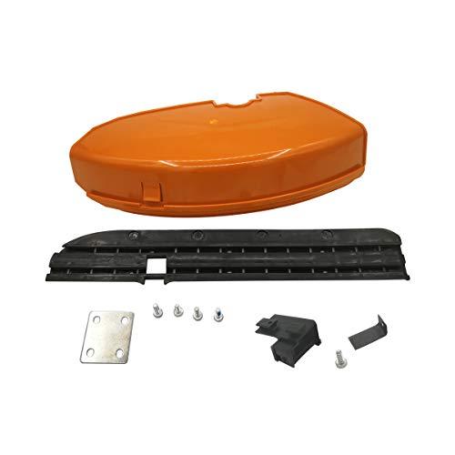 420mm / 260mm Protector Falda Placa de Soporte Kit de Cuchillas de Tornillo para STIHL FS55 FS110 FS130 FS160 FS180 FS220 FS240 FS250 Cortadora Césped Reemplaza # 4119 007 1013