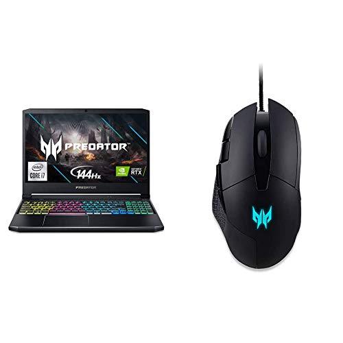 Acer Predator Helios 300 Gaming Laptop PH315-53-71HN, Intel i7-10750H, NVIDIA GeForce RTX 3060 6GB, 15.6' Full HD 144Hz Display, 16GB DDR4, 512GB NVMe SSD with Predator Cestus 315 Gaming Mouse