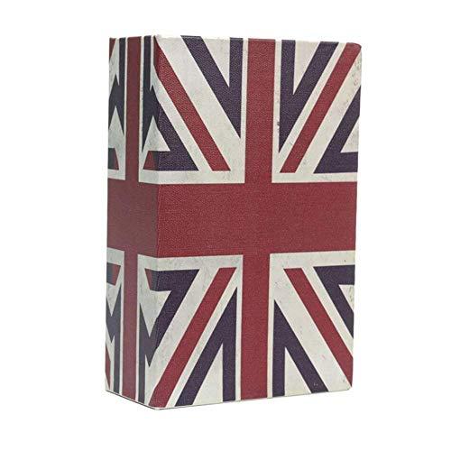 Caja de seguridad para libros de diversiones, con cerradura de combinación, caja de metal oculta, caja de almacenamiento de dinero, caja de colección