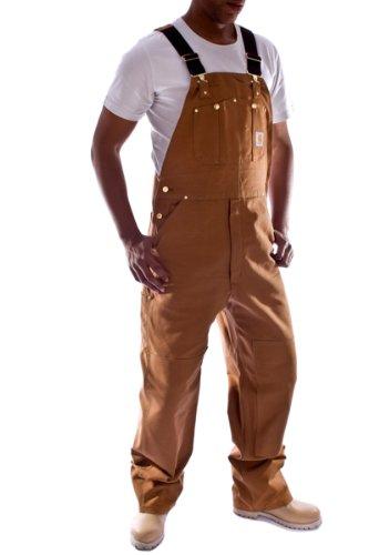 Carhartt - Latzhose, Denim - Braun Jeanslatzhose Jeans Arbeit Latzhosen männer R01Brown-34W-32L