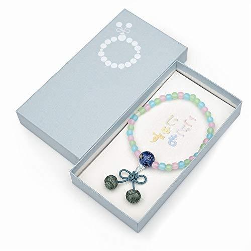 【ひるた仏具店】 子供用数珠 念珠 さくらんぼ ミックス仕立て ブルー