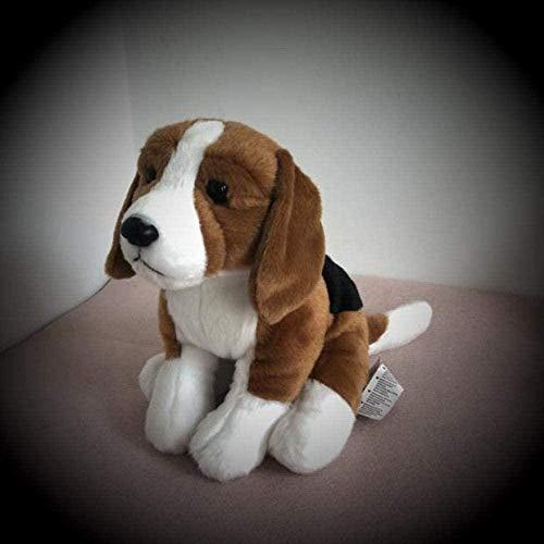 NC88 Bonito Perro Beagle de Peluche, Perro Blanco, Juguetes de Peluche, simulación de Calamar Gigante, muñecos de Animales Bonitos para niños, Regalos