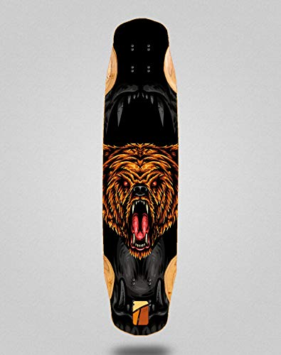 Txin Skateboard Longboard Deck Mix Bamboo 38x8.45 Forest Night