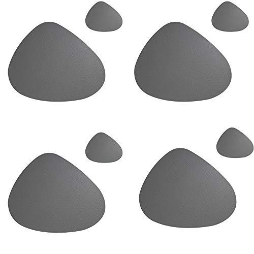 Matbord värmebeständig bordstablett, oval dyna vattentät matta gryta kniv matta café kopp matta flerfärgad förpackning med 8 tallriksunderlägg Mörkgrått