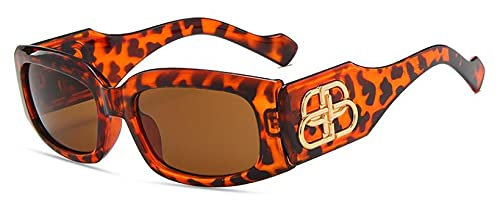 ShFhhwrl Clásico Gafas De Sol Gafas De Sol para Mujer De Marca De Lujo Fashon Shades Vintage Negro Rectángulo Gafas De Sol Hombre