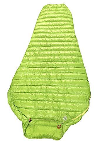 Aegismax Schlafsack aus 95% Gänsefedern, sehr leicht und bequemer Mumienschlafsack grün M/L, grün