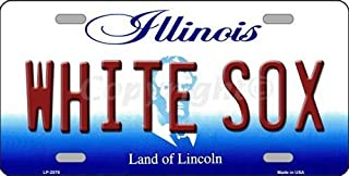 BIN SHANG WHITESOX Illinois Novelty State Background Vanity Metal License Plate Tag Sign