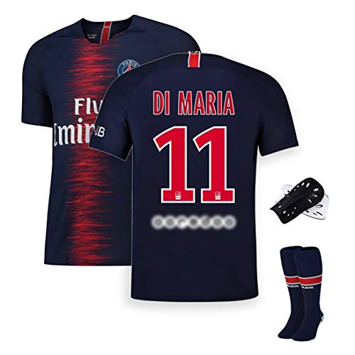 HQAZ Fußball-Sportbekleidung, Nr. 10 Neymar Di María Mbappé, Pariser Fußballmannschaft Trainingsanzug Herrenanzug, kann wiederholt gewaschen Werden, Fans Gedenk-Sportbekleidung-No.11-M