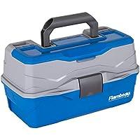 Flambeau Outdoors 6382TB 2-Tray Classic Tray Tackle Box (Blue / Gray)