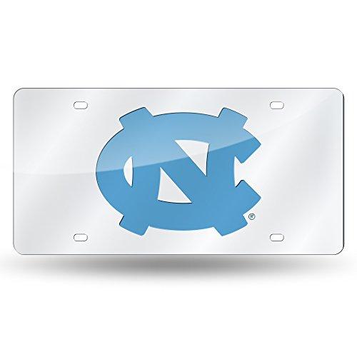 NCAA Rico Industries Laser Inlaid Metal License Plate Tag, North Carolina Tar Heels, 6 x 12-inches