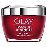Olay Regenerist Ultra Rich Crema De Día, Textura Rica No Grasa, Con Vitamina B3, Péptidos Y Manteca De Karité Sin Perfume, 50ml