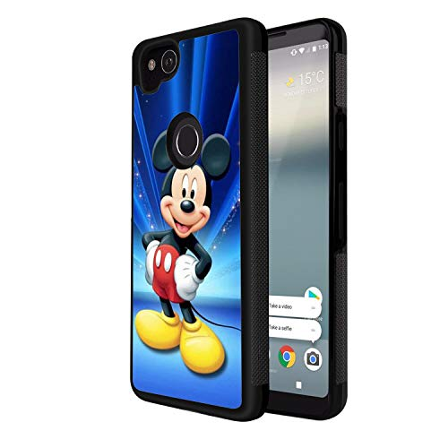 DISNEY COLLECTION Tire Phone Case Google Pixel 2 Mickey Mouse Wallpaper Hd Skid Shock Absorption Non-Slip Durable Rubber Bumper Cover Cute Pattern