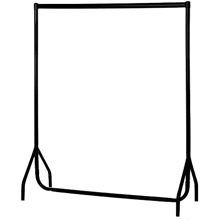 KEEAN Steel Black Exhibition and Showroom Clothes Rail 4 FT x 5 FT
