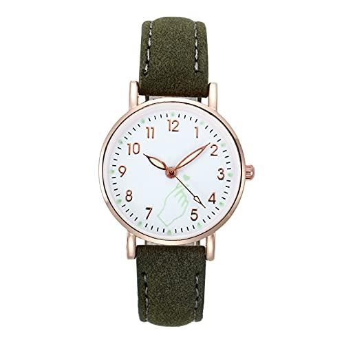35mmWomen S Relojes Señoras Relojes de Pulsera Luminoso Mujeres Simple Relojes Casual Moda Correa Reloj de Cuarzo