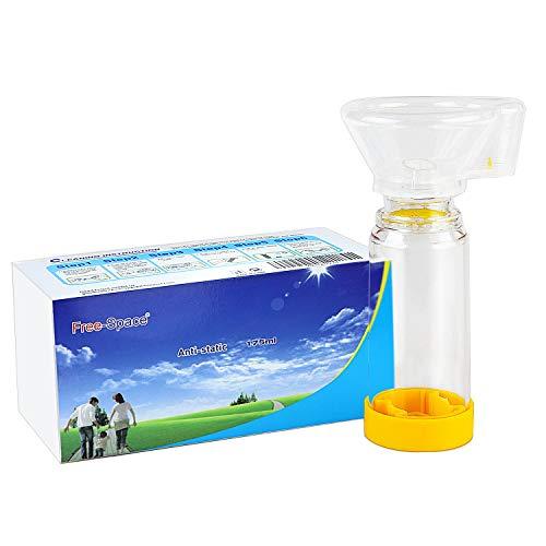 Aerochamber Plus Inalatore Distanziatore per adulti, bambini, aerosol asma, vieni con maschera (medio)