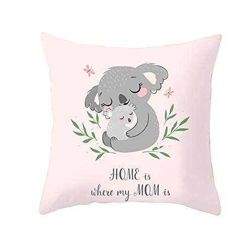 Cushion Cover Decorative Throw Pillow Covers Animal Square Velvet Soft Double Sided Cushion Covers with Invisible Zipper for Sofa Bedroom Decorative Throw Pillowcases M5716 Pillowcase,55x55cm