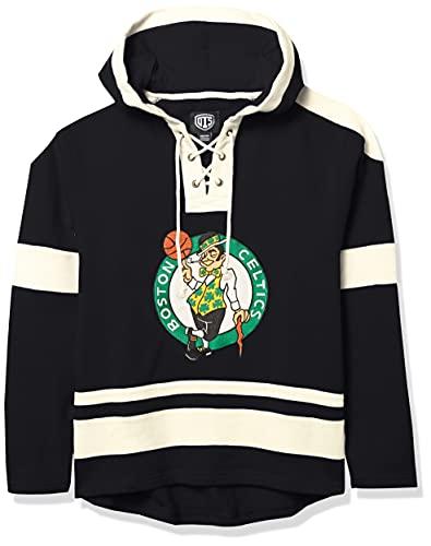 OTS NBA Boston Celtics Men's Grant Lace Up Pullover Hoodie, Logo, Small