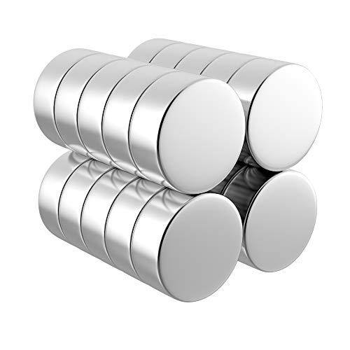 DESPANO 20 Magnete, rund, 8 x 3 Millimeter, extrem hohe Haftkraft N45, scheibenförmig – Tafel-Magnete/Kühlschrank-Magnete/Pinnwand-Magnete/Neodym-Magnete