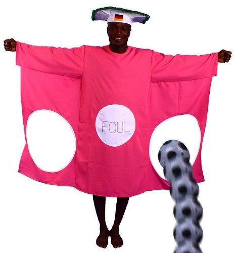 Torwand Kostüm pink lustige Kostüm Junggesellenabschied