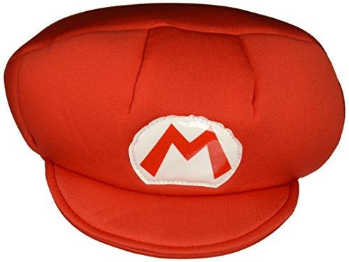 SUPER MARIO 13369 – Chapeau Mario pour Enfant, Rouge, Taille Unique